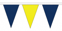 ROYAL BLUE AND YELLOW TRIANGULAR BUNTING - 10m / 20m / 50m LENGTHS